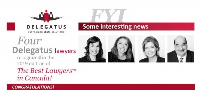 Four Delegatus lawyers recognized in the 2019 edition of The Best Lawyers™ in Canada!