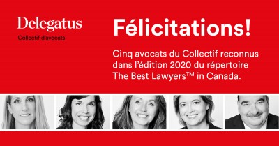 5 Delegatus lawyer-entrepreneurs ranked in The Best Lawyers® in Canada 2020!